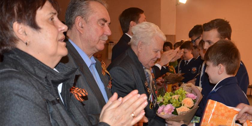 Поздравление ветеранов в День Победы в лицее № 14