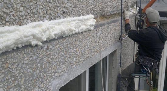 В Жуковском отремонтировали межпанельные швы дома