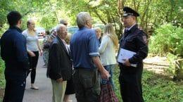 В Жуковском раздали распечатки с информацией о местонахождении участкового полиции