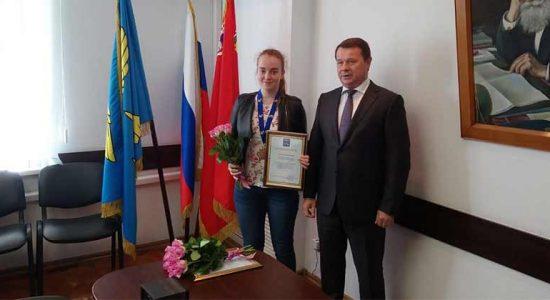 Руководитель администрации города наградил жуковских бадминтонисток