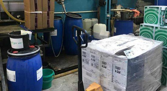В Жуковском выявлено незаконное производство средства для мытья посуды Fairy