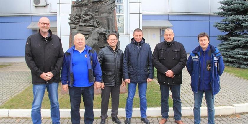 Отряд Центроспаса в Жуковском посетила делегация из Германии