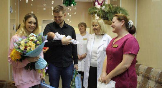 В новом году в Жуковском первым родился мальчик