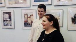 В выставочном зале «Отражение» открылась персональная выставка 14-летнего художника