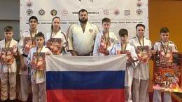 Юные каратисты из Жуковского успешно выступили на чемпионате Европы по косики каратэ