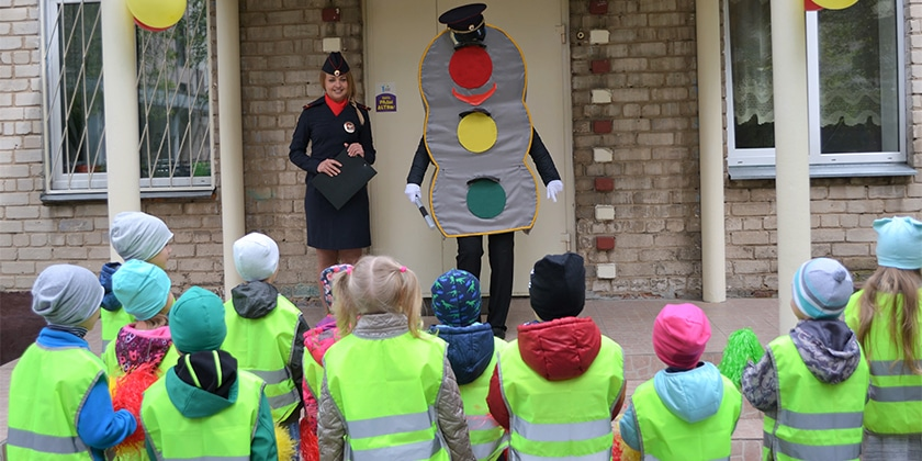 В Жуковском детском саду № 14 прошла тематическая квест-игра по дорожной азбук
