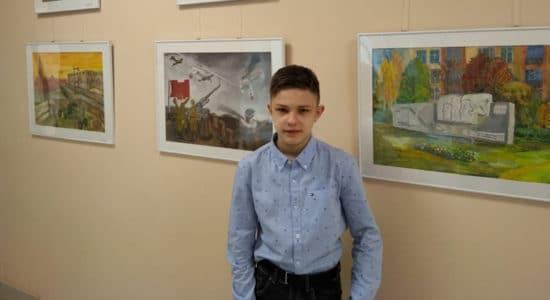 В Жуковском открылась выставка юных художников, посвященная 75-летию Победы