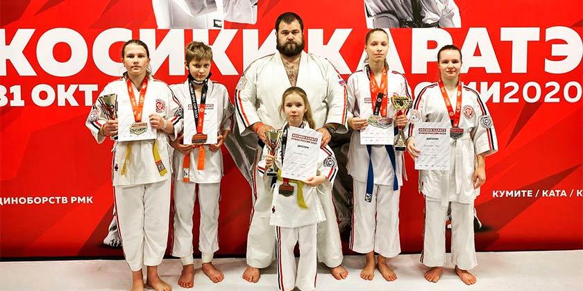 Жуковские каратисты завоевали 6 медалей на открытом Кубке России по Косики Каратэ