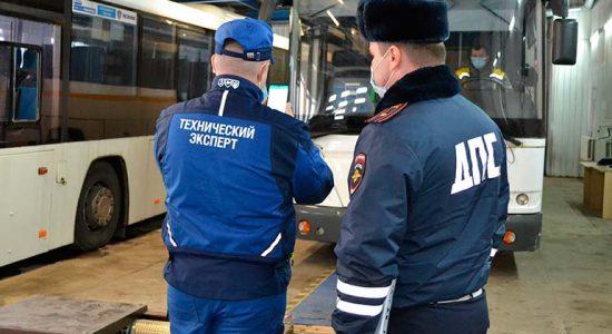 В Жуковском осуществляют подготовительные мероприятия к проведению техосмотра автобусов